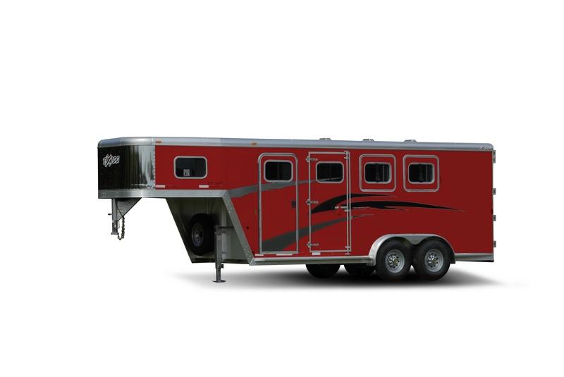 Red Aluminium Skin Horse Trailer